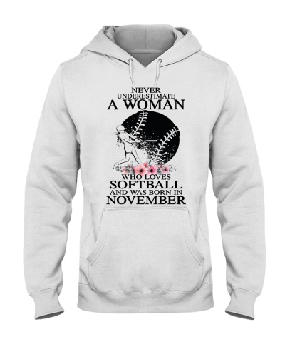 A woman loves softball and was born in November
