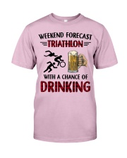 triathlon-weekend forecast Classic T-Shirt thumbnail