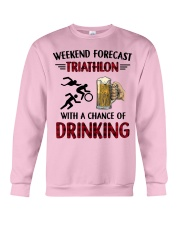 triathlon-weekend forecast Crewneck Sweatshirt thumbnail