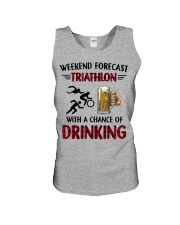 triathlon-weekend forecast Unisex Tank thumbnail