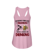triathlon-weekend forecast Ladies Flowy Tank thumbnail