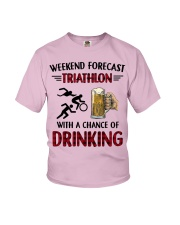 triathlon-weekend forecast Youth T-Shirt thumbnail
