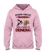 triathlon-weekend forecast Hooded Sweatshirt front