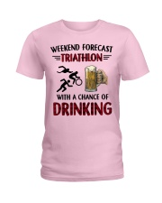 triathlon-weekend forecast Ladies T-Shirt thumbnail