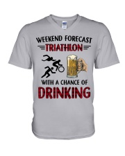 triathlon-weekend forecast V-Neck T-Shirt thumbnail