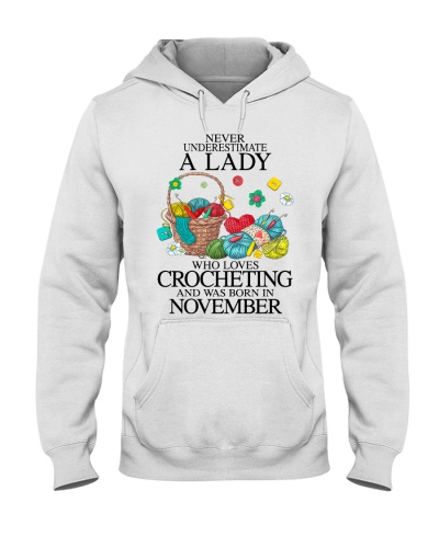 A lady loves crocheting November