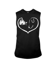 easily-distracted-by-camping-dog-wine-pt Sleeveless Tee thumbnail