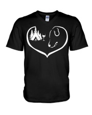 easily-distracted-by-camping-dog-wine-pt V-Neck T-Shirt thumbnail