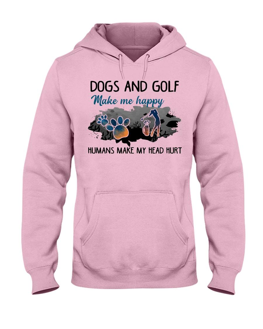 Dogs And Golf - Make Me happy Hooded Sweatshirt