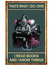 That's What I Do - I Dive I Read Books 11x17 Poster front