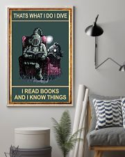 That's What I Do - I Dive I Read Books 11x17 Poster lifestyle-poster-1