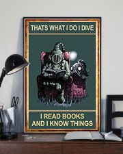 That's What I Do - I Dive I Read Books 11x17 Poster lifestyle-poster-2