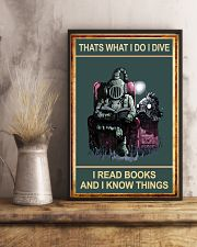 That's What I Do - I Dive I Read Books 11x17 Poster lifestyle-poster-3
