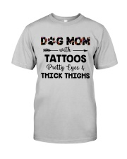 dog mom with tattoos Classic T-Shirt thumbnail