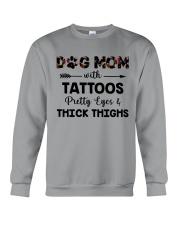 dog mom with tattoos Crewneck Sweatshirt thumbnail