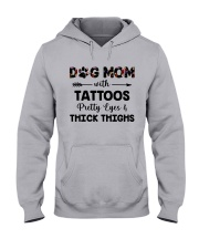 dog mom with tattoos Hooded Sweatshirt front