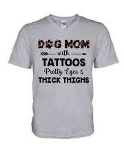 dog mom with tattoos V-Neck T-Shirt thumbnail
