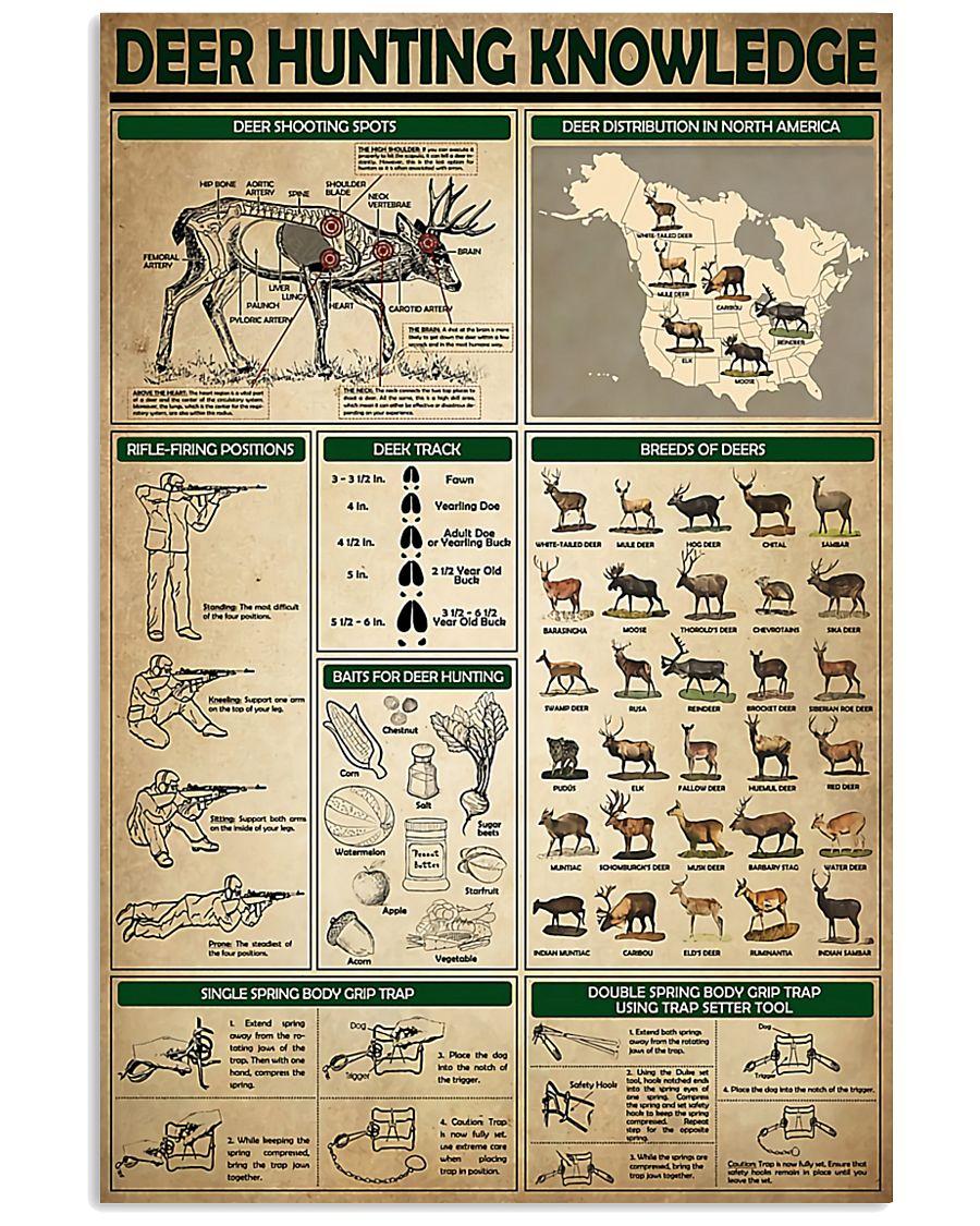 Deer Hunting Knowledge 11x17 Poster
