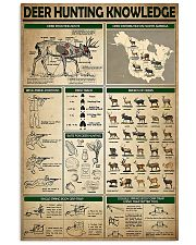 Deer Hunting Knowledge 11x17 Poster front