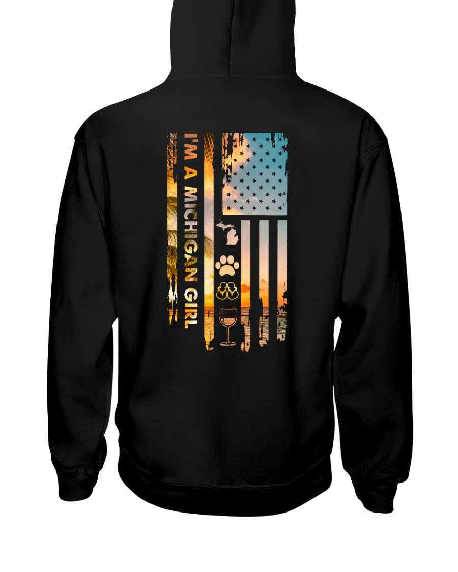 Michigan USA Flag PT 18 Hooded Sweatshirt