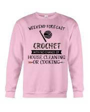 crochet-weekend forecast-cooking Crewneck Sweatshirt thumbnail
