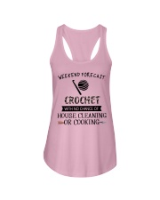 crochet-weekend forecast-cooking Ladies Flowy Tank thumbnail