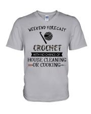 crochet-weekend forecast-cooking V-Neck T-Shirt thumbnail