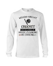 crochet-weekend forecast-cooking Long Sleeve Tee thumbnail