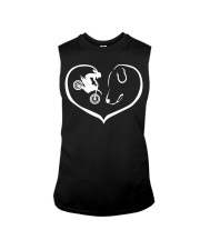 easily distracted by motocross and dog  Sleeveless Tee thumbnail