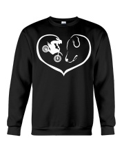 easily distracted by motocross and dog  Crewneck Sweatshirt thumbnail