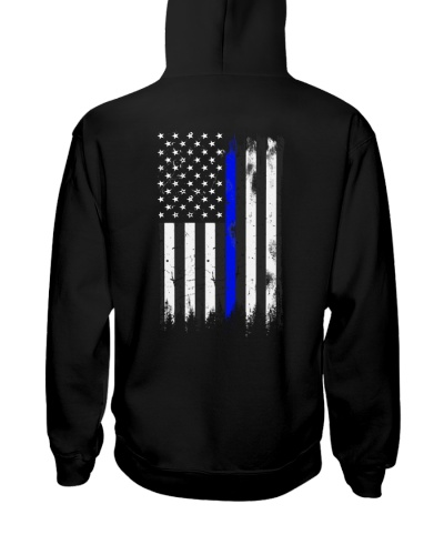 Blue line USA flag 2 sides printed