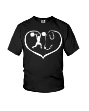 easily distracted by weight lifting and dog PT Youth T-Shirt thumbnail
