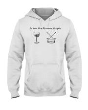 Je Suis Une Femme Simple - Hockey Hooded Sweatshirt tile