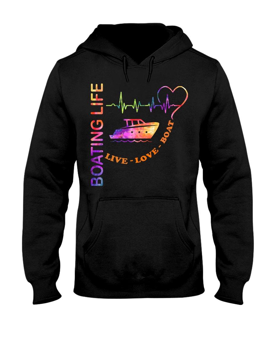 heartbeat life-boat Hooded Sweatshirt