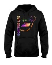 heartbeat life-boat Hooded Sweatshirt front