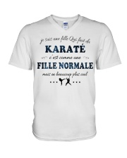 Fille Normale - Karaté V-Neck T-Shirt tile