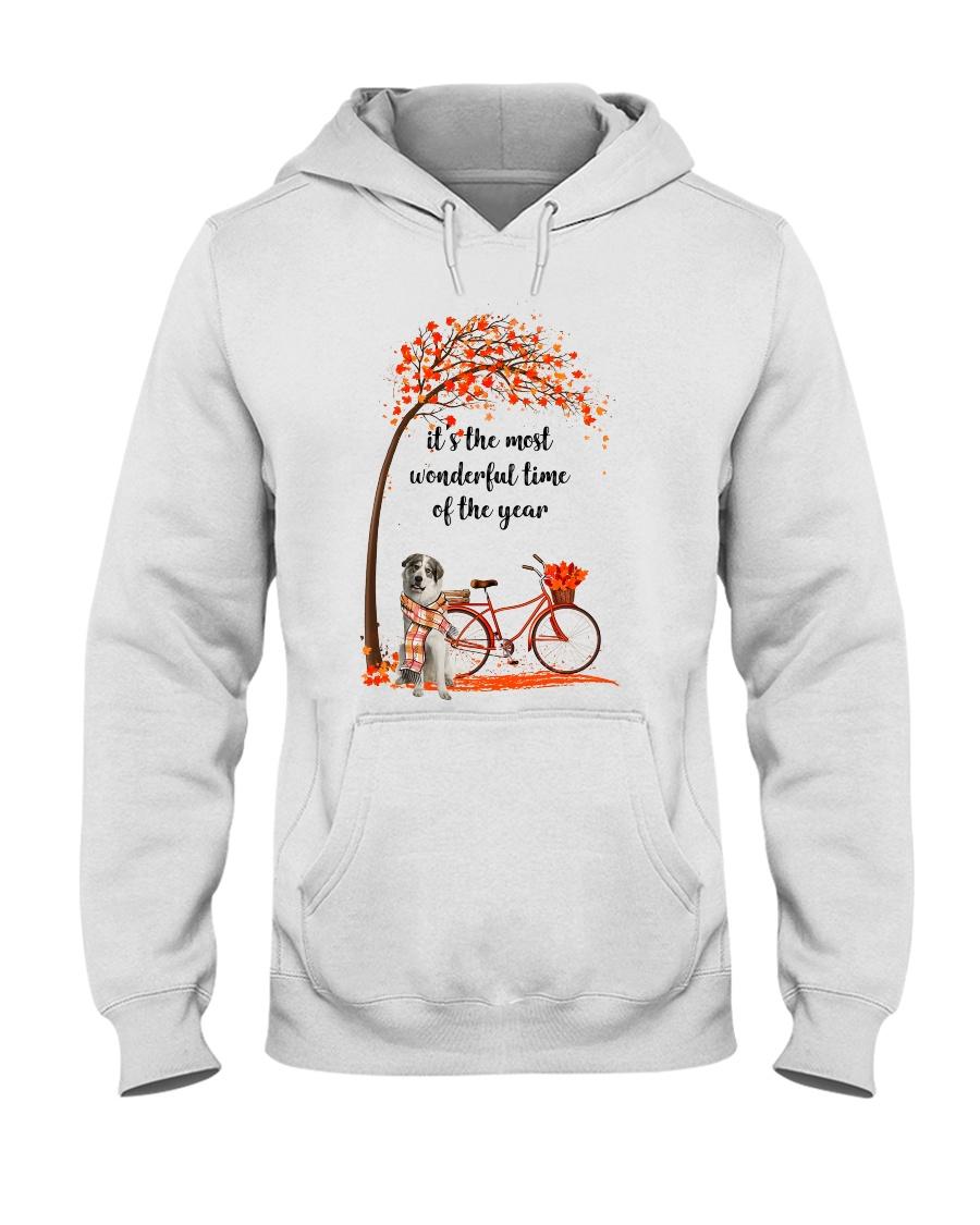 Great Pyrenees Dog - Autumn Hooded Sweatshirt