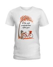 Great Pyrenees Dog - Autumn Ladies T-Shirt thumbnail