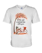 Great Pyrenees Dog - Autumn V-Neck T-Shirt thumbnail