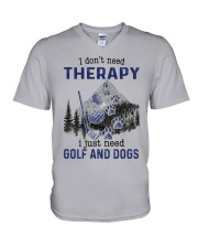 I Don't Need Therapy - Golf V-Neck T-Shirt thumbnail