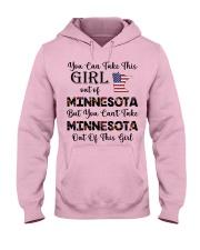 Minnesota girl - you can Hooded Sweatshirt front