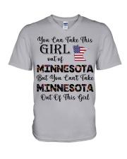 Minnesota girl - you can V-Neck T-Shirt thumbnail