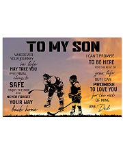 Ice hockey-to my son 9992 0038 17x11 Poster front
