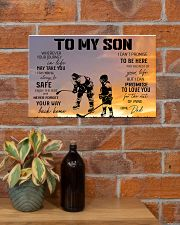 Ice hockey-to my son 9992 0038 17x11 Poster poster-landscape-17x11-lifestyle-23