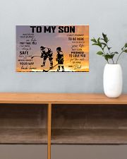 Ice hockey-to my son 9992 0038 17x11 Poster poster-landscape-17x11-lifestyle-24