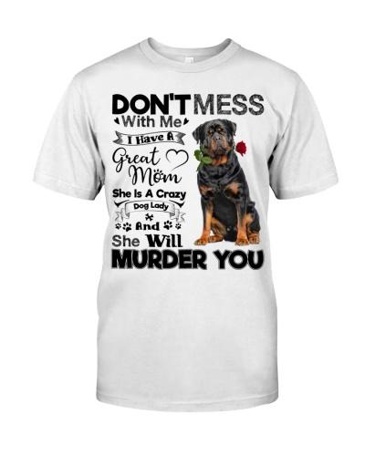 dog mom crazy Rottweiler 9997