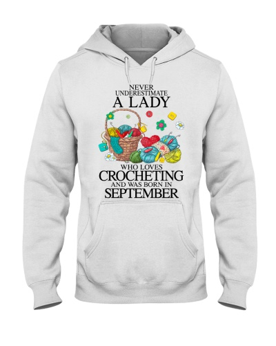 A lady loves crocheting September