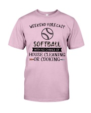 softball-weekend forecast-cooking Classic T-Shirt thumbnail