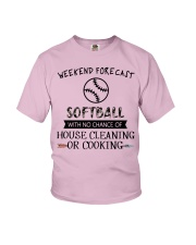 softball-weekend forecast-cooking Youth T-Shirt thumbnail