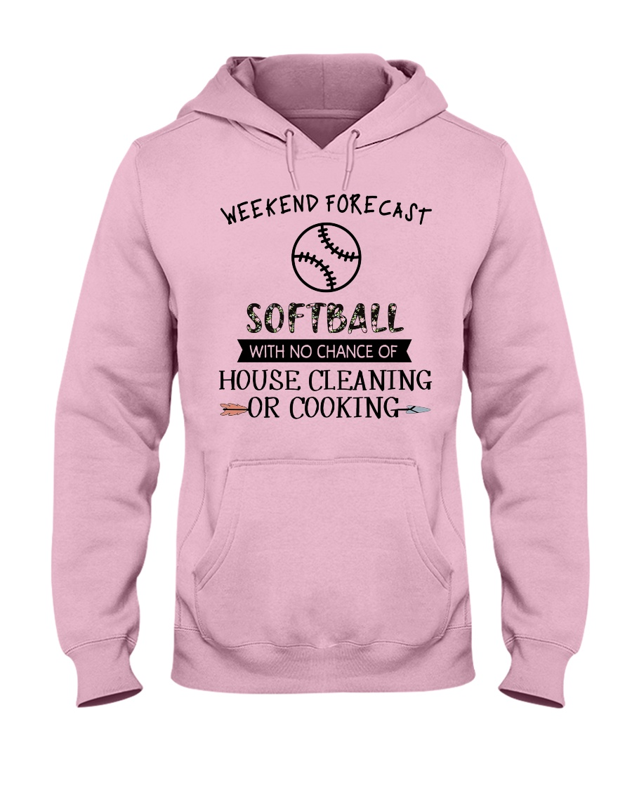 softball-weekend forecast-cooking Hooded Sweatshirt